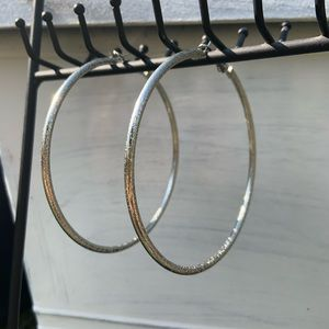 Jewelry - Silver Plated Hoops NWOT